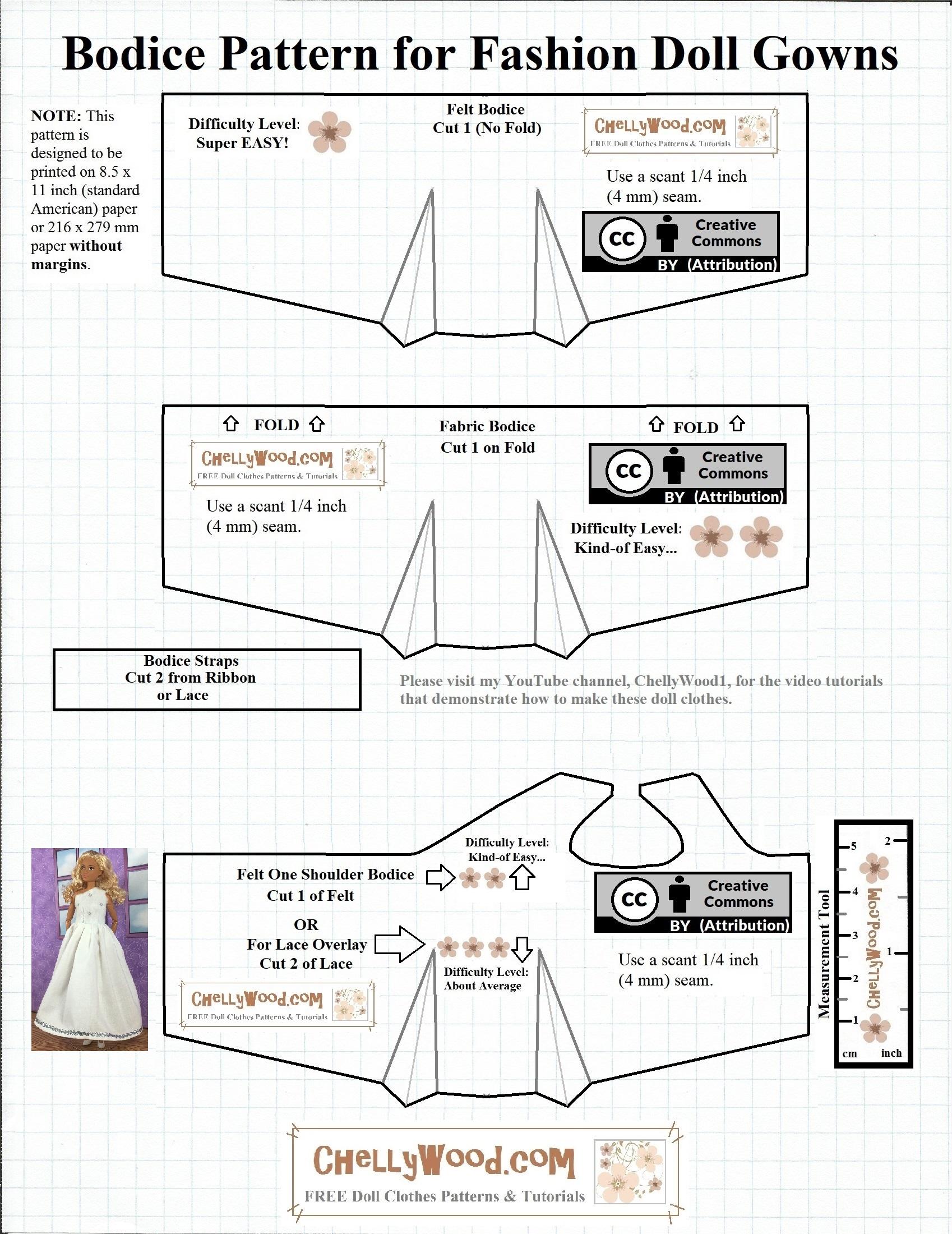 Free Barbie Dolls Wedding Dress Patterns Chellywood Com Free