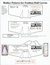 FREE Barbie #Dolls Wedding Dress #Patterns @ ChellyWood.com