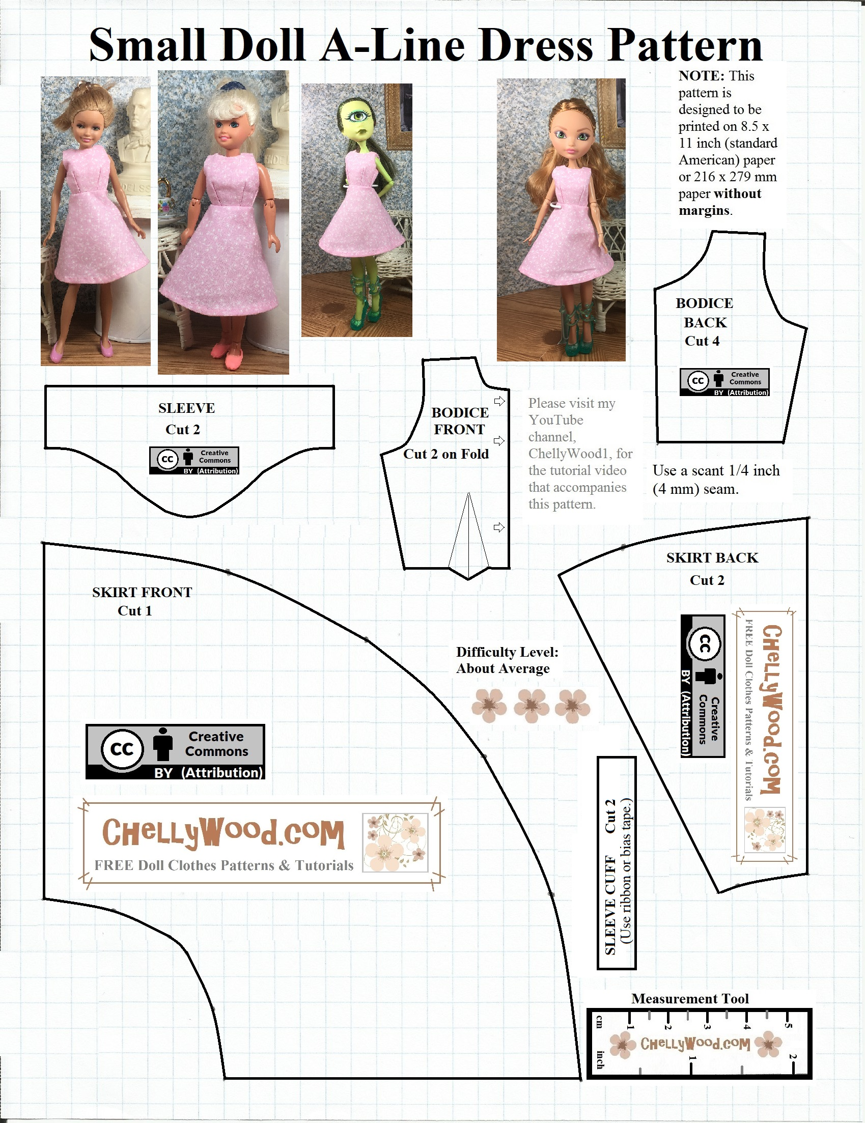 FREE printable #sewing pattern for small #dolls – Free, printable