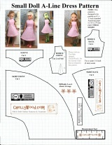 FREE printable #sewing pattern for small #dolls