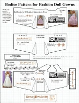 Barbie #Dolls' #Quinceañera Dress #Patterns