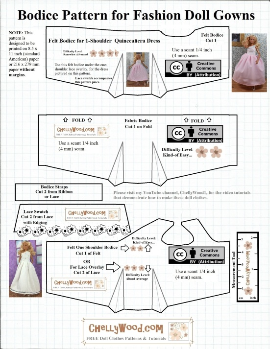 Free Summer Top Sewing Pattern For Fashion Dolls Chellywood
