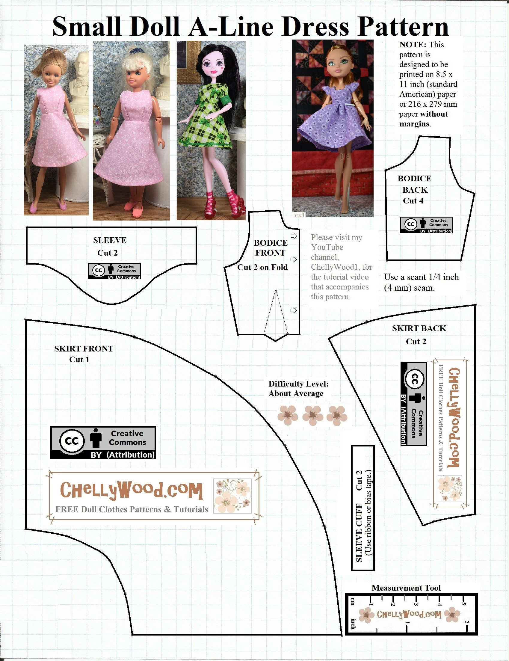 image about Printable Sewing Patterns referred to as Monster Higher Doll Clothing Routines Free of charge Doll Dresses Layouts