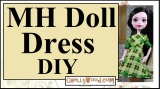 #MonsterHigh #dolls' dress tutorial on #YouTube
