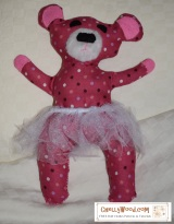 #Sew a #bear #plushie #toy w/FREE pattern @ ChellyWood.com