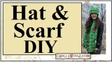#Sew an easy #PolarFleece hat and scarf w/free #patterns @ChellyWood.com