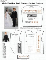 FREE #KenDoll coat #craft pattern fits other male #dolls @ ChellyWood.com