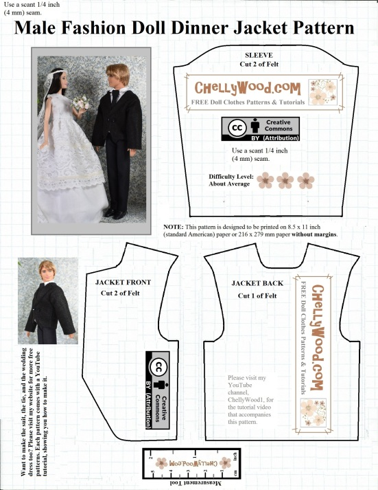 FREE #KenDoll coat #craft pattern fits other male #dolls ...