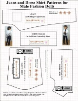 Free printable Ken #dolls clothes #sewing #patterns @ ChellyWood.com