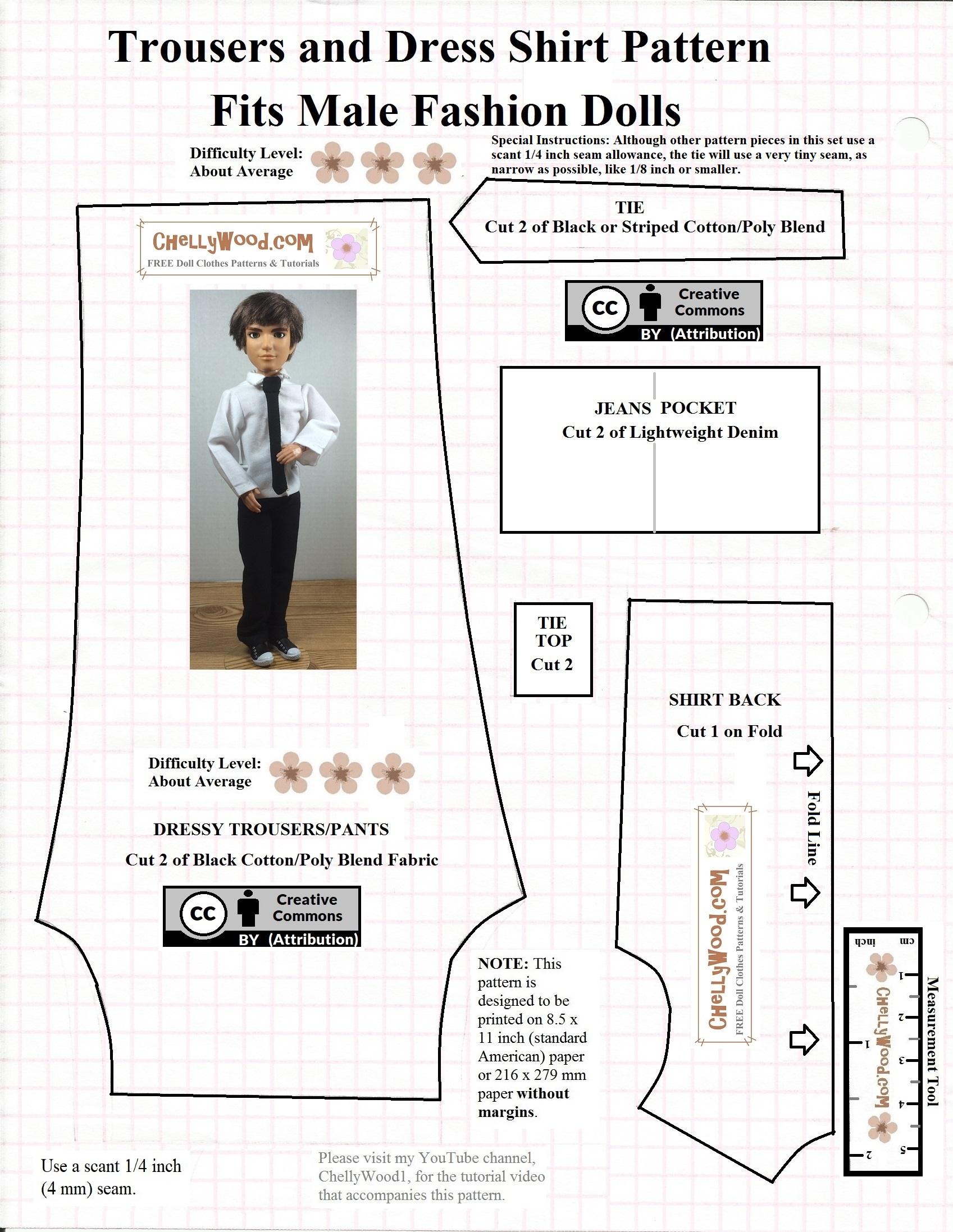 picture relating to Free Printable Ken Doll Clothes Patterns named Ken Routines Absolutely free Doll Apparel Behaviors