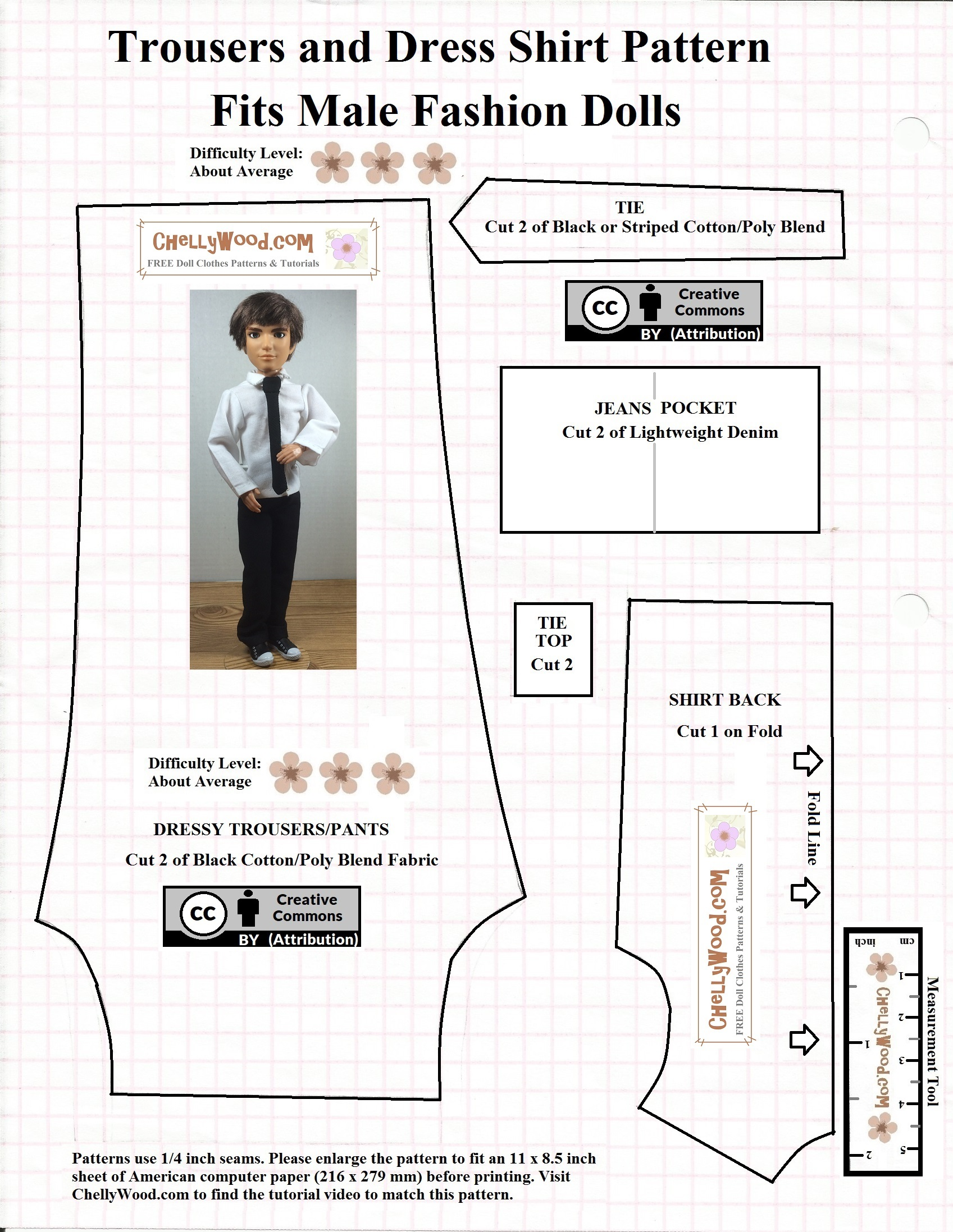 photo about Free Printable Ken Doll Clothes Patterns identify Very simple #felt #tux for Ken #dolls w/Cost-free types @ CyWood