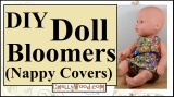 #Sew a pair of #baby #dolls bloomers w/this tutorialguide