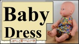 Sew a baby #dolls dress w/free #dollClothes #patterns @ChellyWood.com