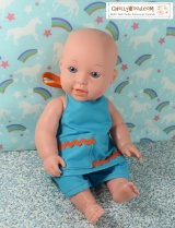 FREE #DollClothes #Patterns for 12″ Baby #Dolls @ ChellyWood.com