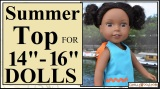 #Sewing tutorial for making #summer clothes for #dolls @ ChellyWood.com