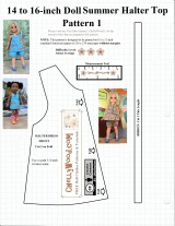 FREE #sewing pattern for 14″ (35 cm) #dolls @ ChellyWood.com #crafts