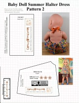 #Sew a summer outfit for #baby #dolls w/free pattern @ ChellyWood.com