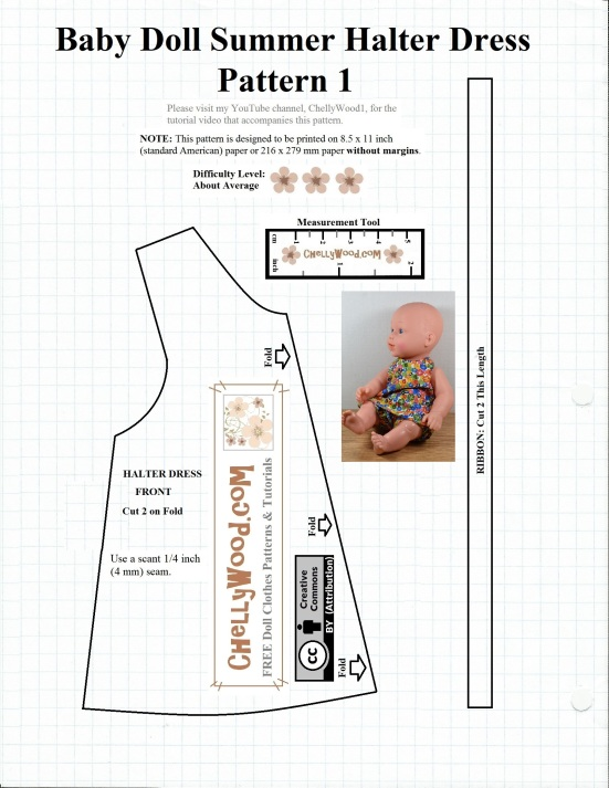 Free Sewing Pattern For Baby Dolls Chellywood Crafts