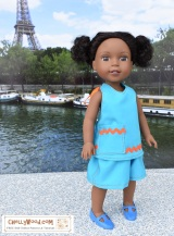 Free printable #sewing patterns for #SummerClothes for #Dolls @ ChellyWood.com