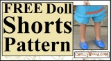 #Sew a pair of #dolls' shorts (#tutorial and FREE pattern)
