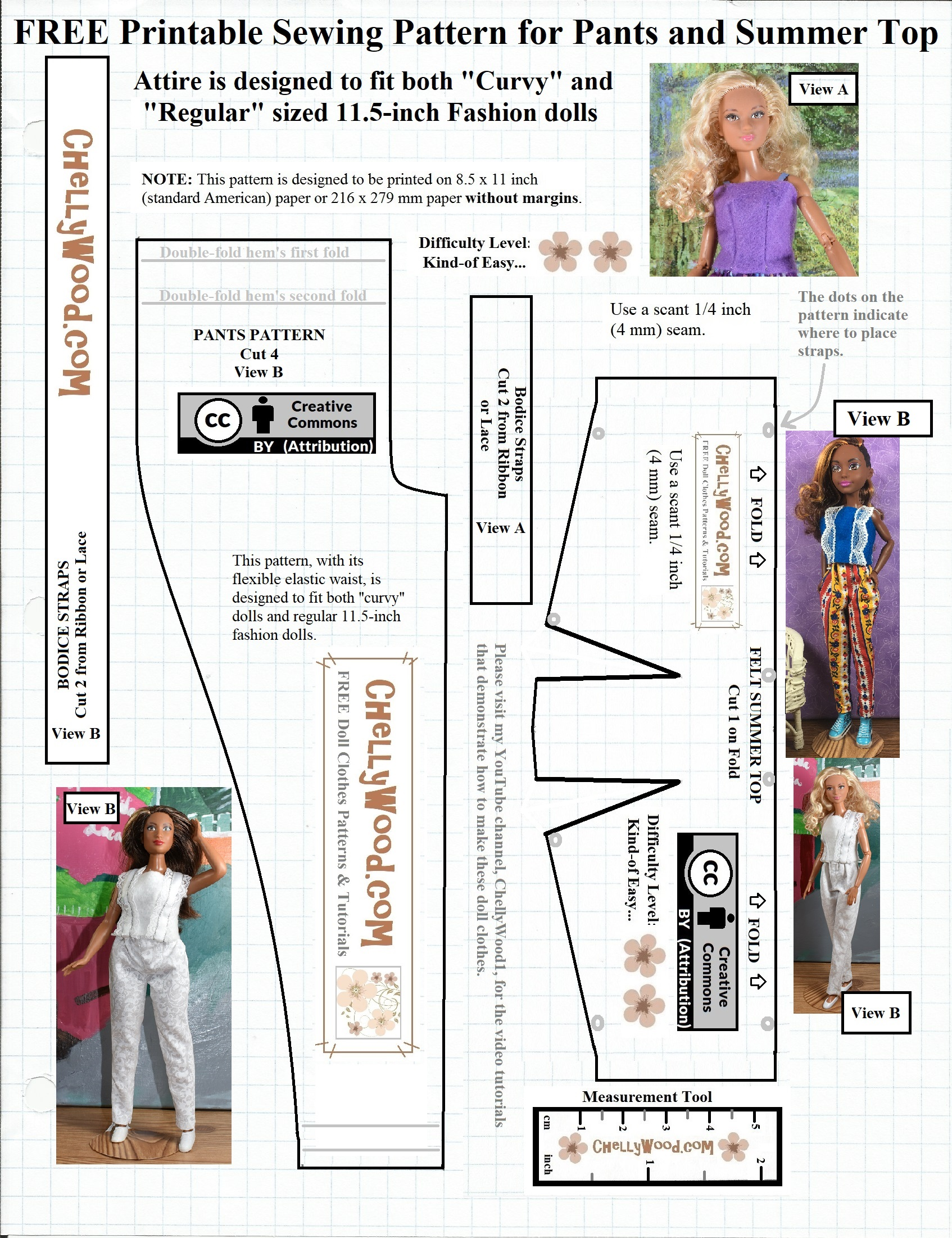 This is a picture of Stupendous Barbie Doll Clothes Patterns Free Printable