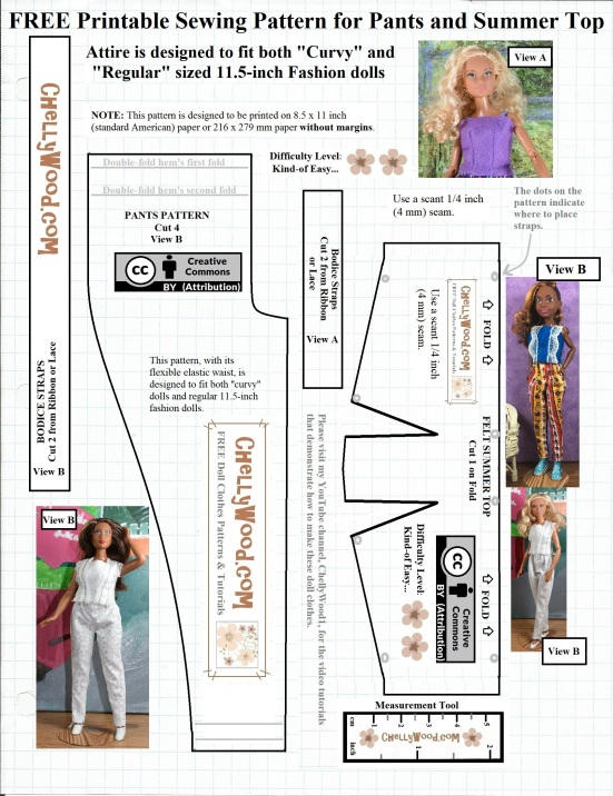 Invaluable image for printable barbie patterns