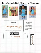 #Summer #Shorts pattern for #Dolls is FREE @ ChellyWood.com