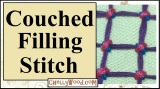 #Embroidery: Couched Filling Stitch Hand Embroidery #Tutorial