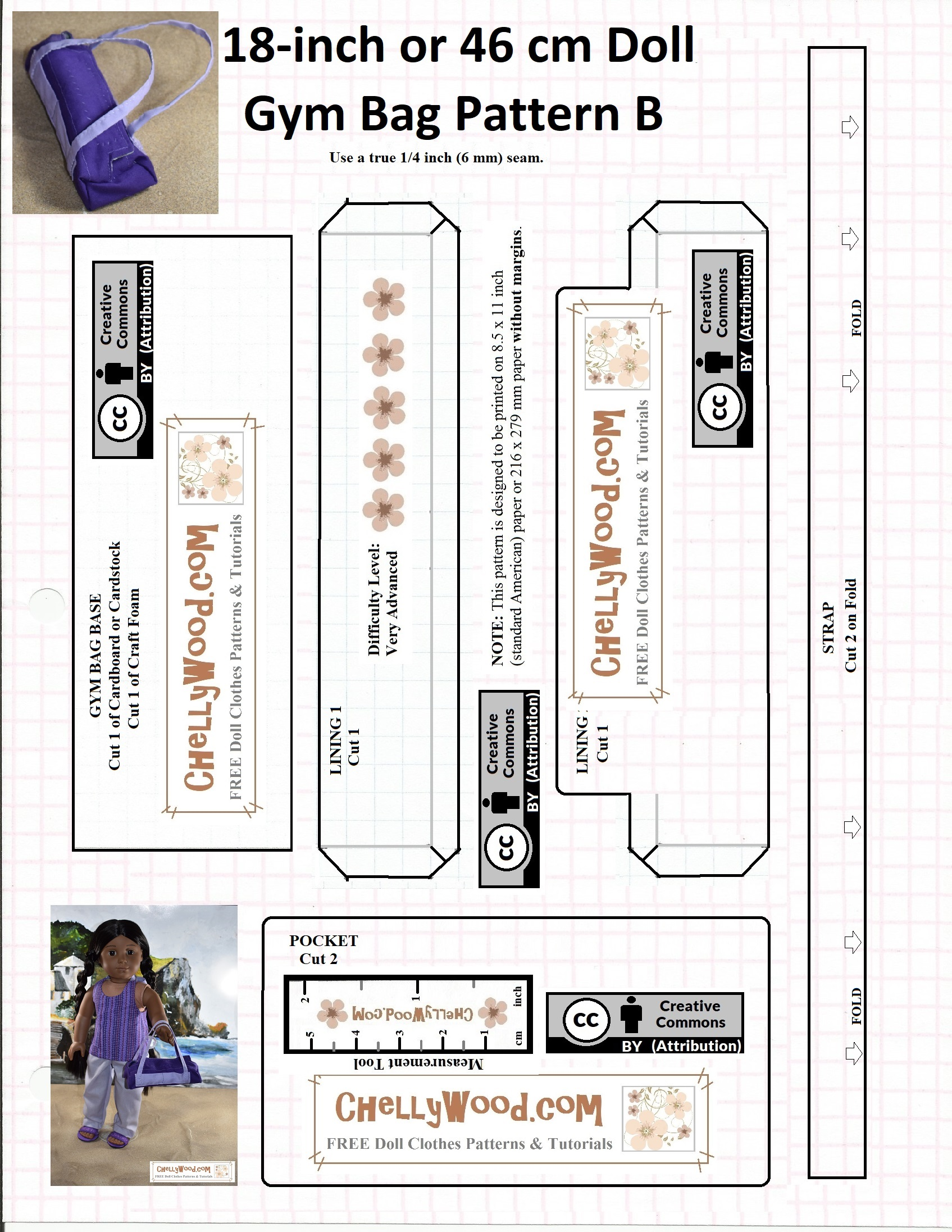 image regarding Pocket Pattern Printable identified as Free of charge printable #sewing types for Madame Alexander #dolls