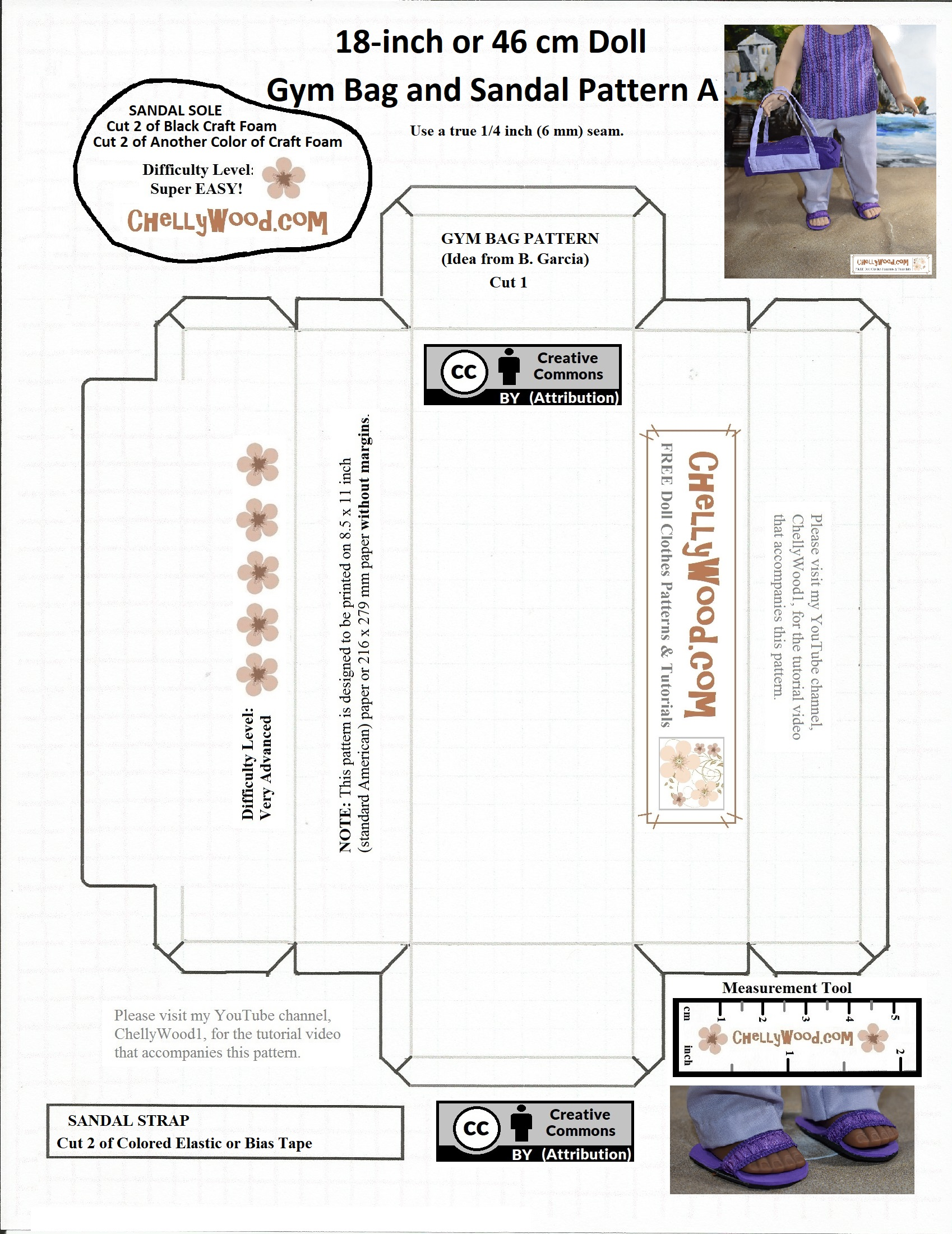 image regarding 18 Inch Doll Shoe Patterns Free Printable named Cost-free #craft #behavior for sandals suits 14-16 inch #dolls