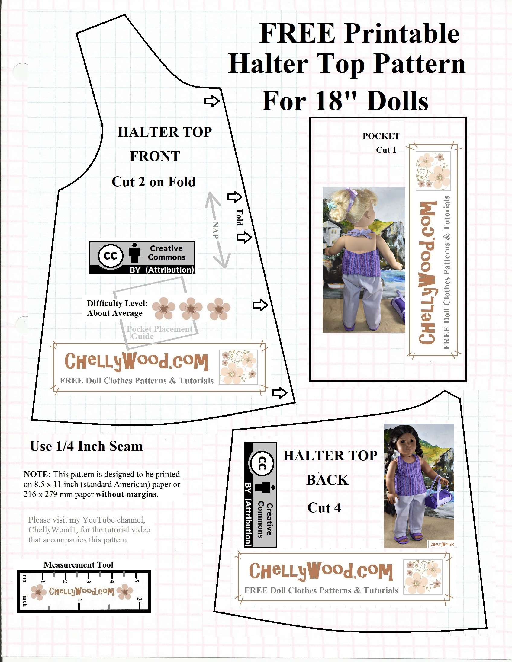 graphic about Free Printable 18 Doll Clothes Patterns called Absolutely free #AGdoll summer months blouse practice @ #sewing 4