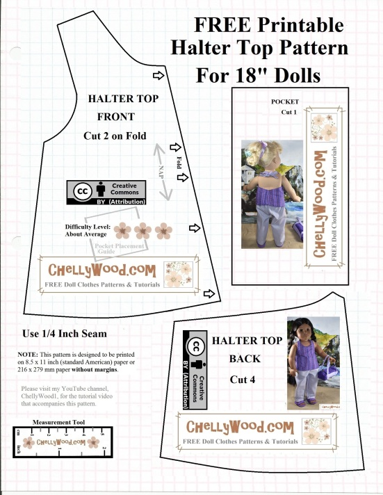 Clean image with regard to 18 doll clothes patterns free printable