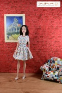 Follow this link for free printable patterns to make the dress shown on this doll: https://wp.me/p1LmCj-FKf