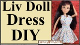 #Sew a #FridayThe13th #partyDress for Liv #Dolls w/free pattern @ ChellyWood.com