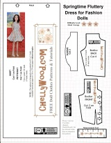 FREE #FashionDoll #party dress pattern fits Barbie and other #dolls