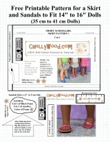 #BackToSchool is near… let's #Sew a schoolgirl skirt for #Dolls @ ChellyWood.com!