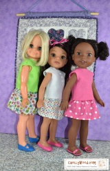 Free #Doll Clothes #Patterns for Wellie Wishers, Hearts for Hearts Girls, and Velvet #Dolls