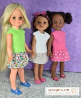 Free Shirt Pattern for 14 inch, 15 inch, and 16 inch #Dolls @ ChellyWood.com #Sewing 4#Kids