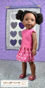 #FreebieFriday #Back2School skirt #patterns for Wellie Wishers #Dolls @ ChellyWood.com