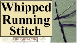 How to do a whipped running stitch or cordonnet stitch in #embroidery @ ChellyWood.com