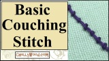 Learn hand #embroidery with this basic couching #stitch for #Halloween #craft projects