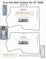 #FREE shirt pattern for 28-inch fashion #dolls, like the #Fashion Friend Barbie