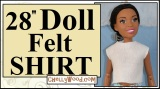 Super easy #felt shirt #DIY for 28-inch #tall #dolls