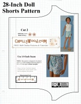 #crafty and free printable shorts #patterns for 28-inch #dolls @ ChellyWood.com
