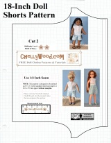 Free printable shorts #patterns for #AmericanGirl and other 18-inch #dolls