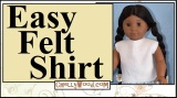 Today we're #sewing a #felt shirt for #18inchDolls w/free pattern @ChellyWood.com
