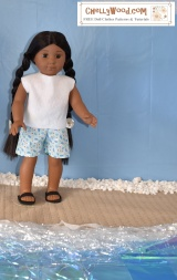 #Sew summer clothes for 18-inch (46 cm) #dolls w/free #patterns and tutorials @ ChellyWood.com