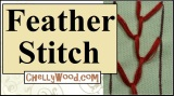 How to do a feather stitch #embroidery #design @ ChellyWood.com #crafts