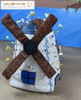 #GiftIdea: make a #Dutch windmill #pincushion for someone you #love!