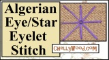 Learn to #embroider the Algerian eye or #star eyelet #stitch with this free tutorial: